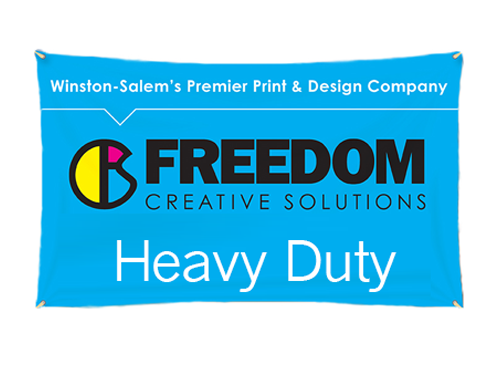 heavy duty banner at freedom creative solutions