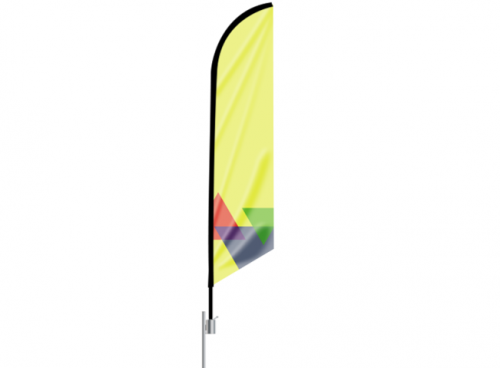 Feather Angled Flag at freedom creative solutions
