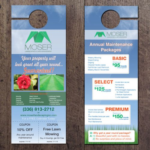 "Moser 4.25""x11"" High Gloss UV Door Hangers"