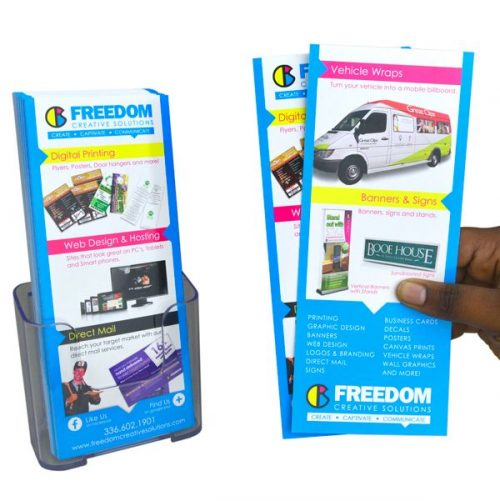 Rack cards Printing at freedom creative solutions