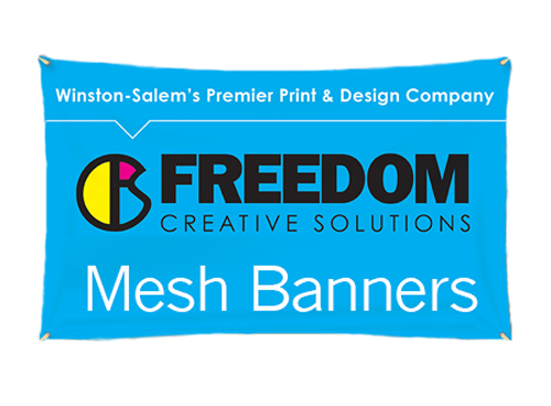mesh banner at freedom creative solutions