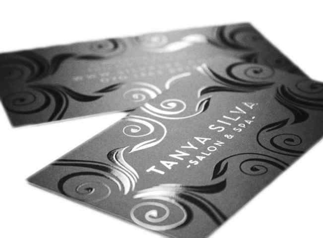 Premium spot uv business cards at freedom creative solutions