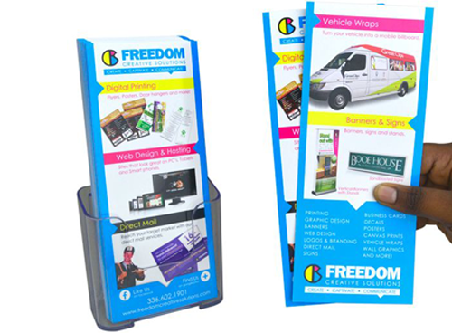 rack cards by freedom creative solutions