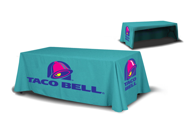 """8′ """"Open Back"""" Tablecloth"""