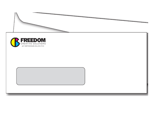 windowed envelope at freedom creative solutions
