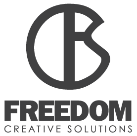 freedom creative solutions logo black