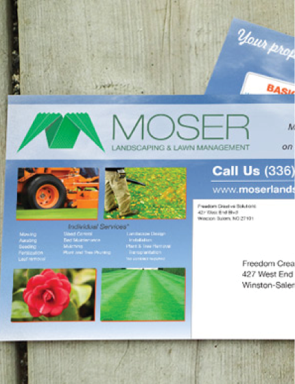 moser landscaping post card