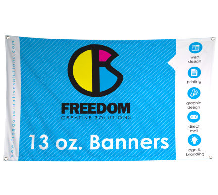 13 oz banners