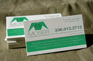 moser landscaping business cards