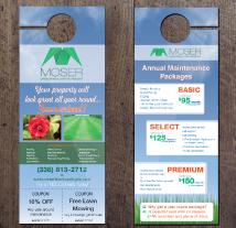 moser landscaping door hangers