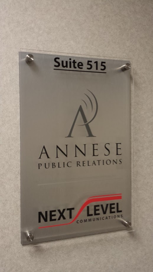 annese public relations signage display