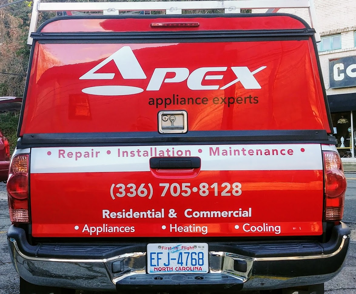 apex_appliances_experts_repair_installation_truck_vehicle_wrap_back_view