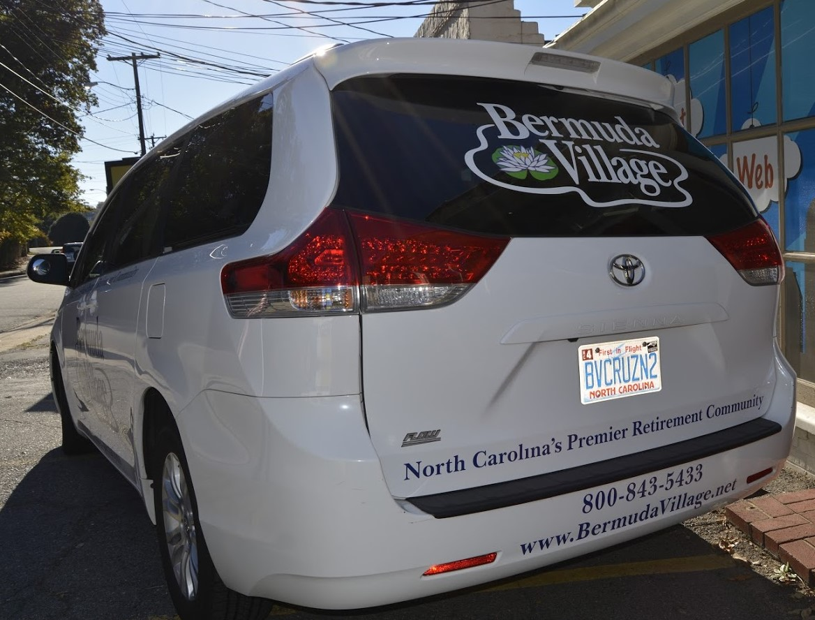 bermuda_village_beyond_expectations_retirement_community_suv_back_side_view_vehicle_wrap
