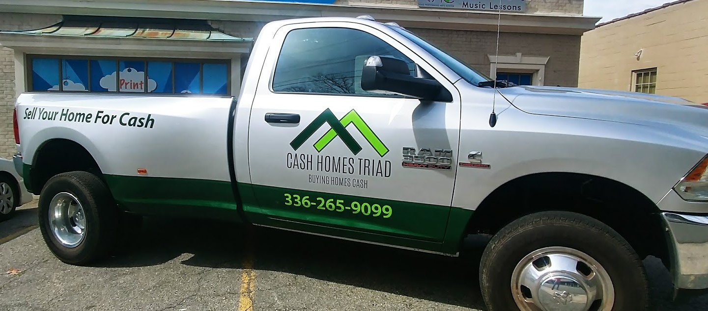 cash_homes_triad_truck_vehicle_wrap_left_side_view
