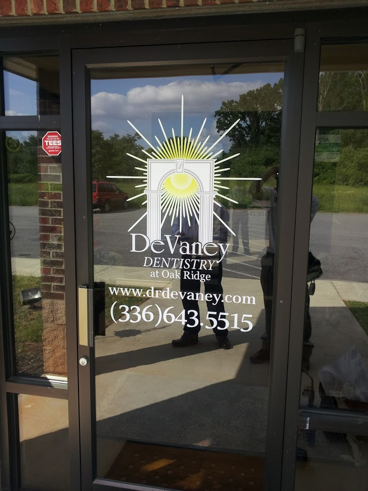devaney dentistry door graphics vinyl displays