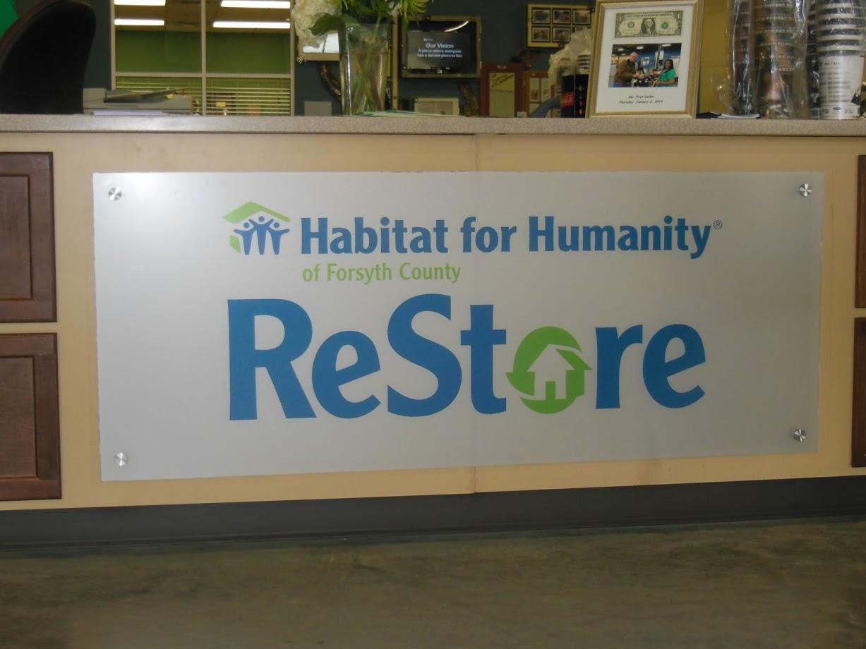 habitat for humanity restore signage