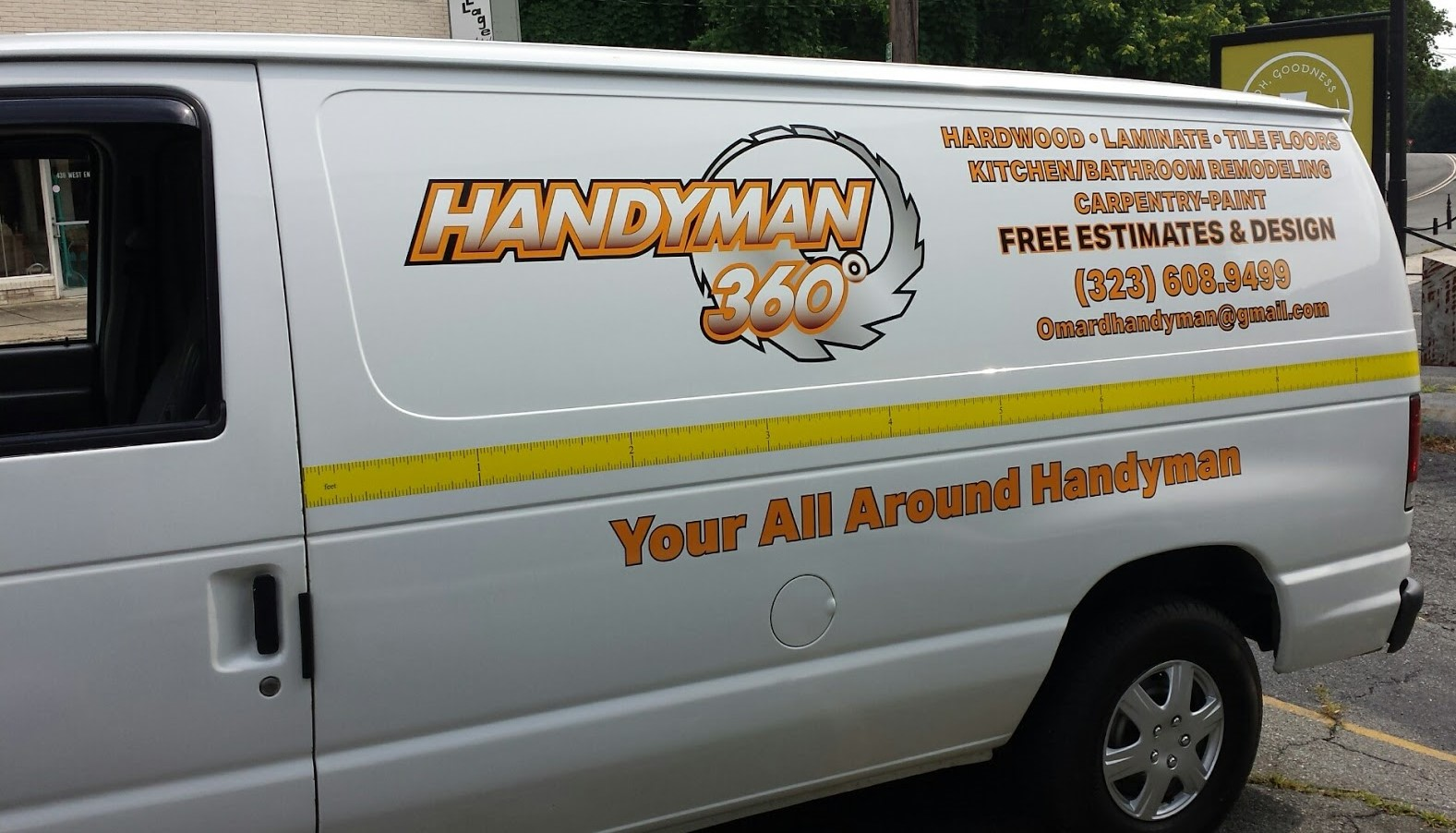 handyman_360_carpentry_paint_remodeling_laminate_van_left_side_view_vehicle_wrap