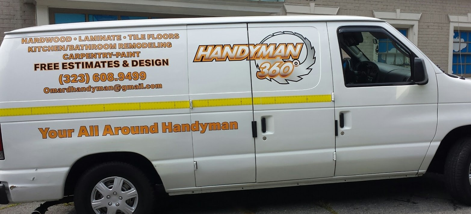 handyman_360_carpentry_paint_remodeling_left_side_view_laminate_van_vehicle_wrap