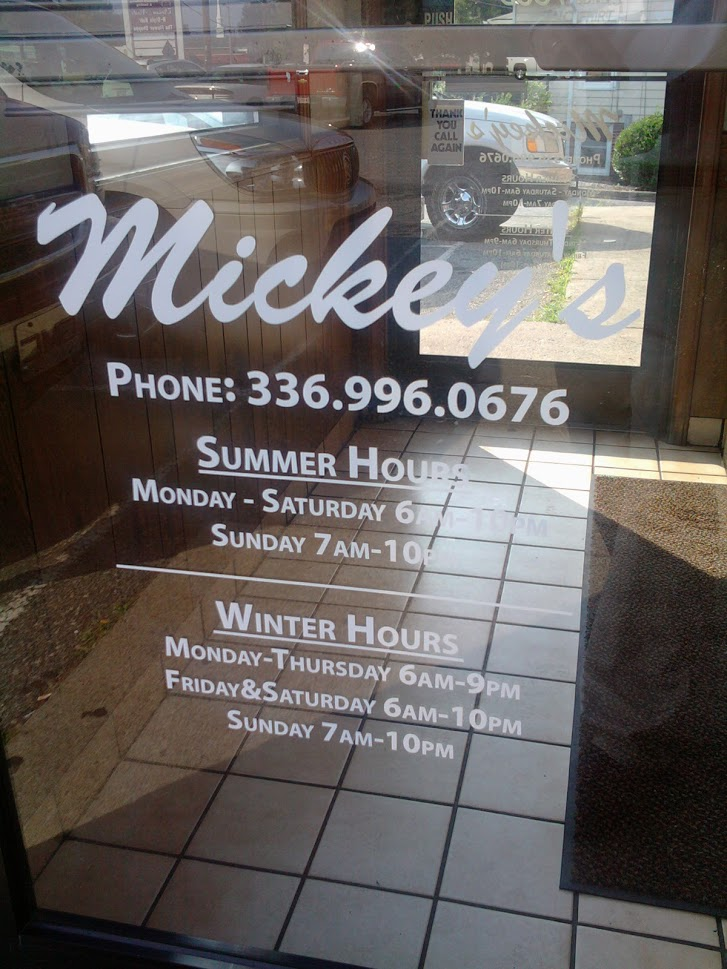 mickeys door graphics vinyl displays