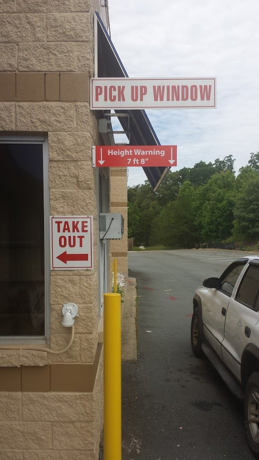 pick-up-window-take-out-heaight-warning-signage-drive-thru