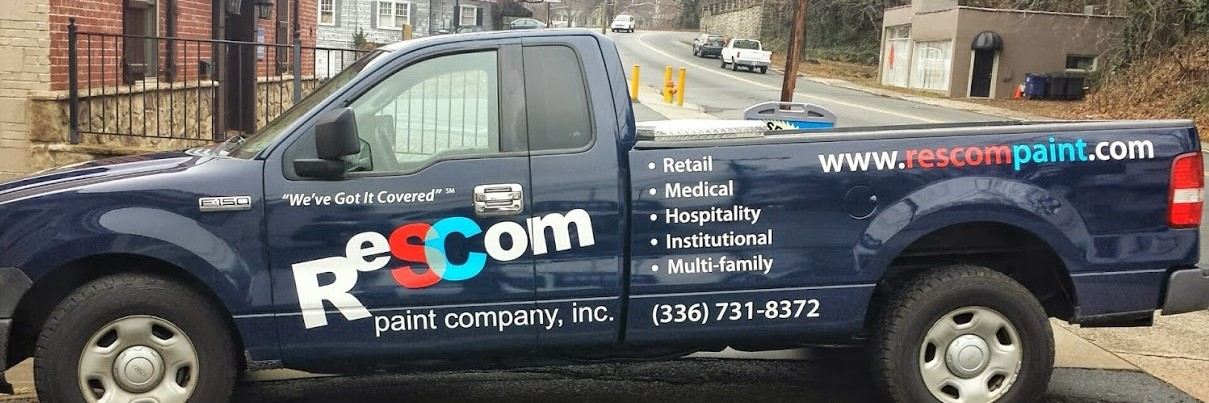 rescom_paint_company_right_side_view_vehicle_truck_wrap