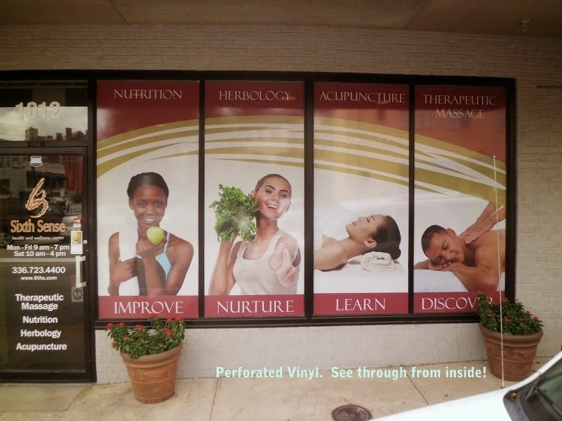 sixth sense health wellness benter winston salem window wra graphics display