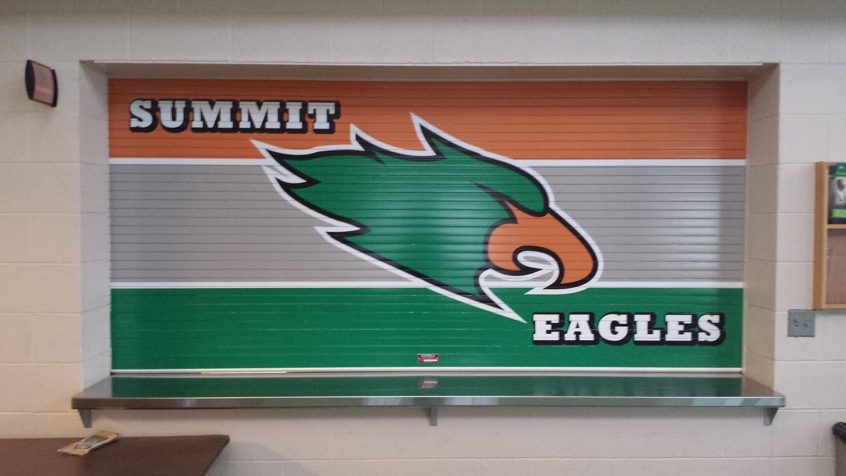 summit eagles vinyl wrap graphics display
