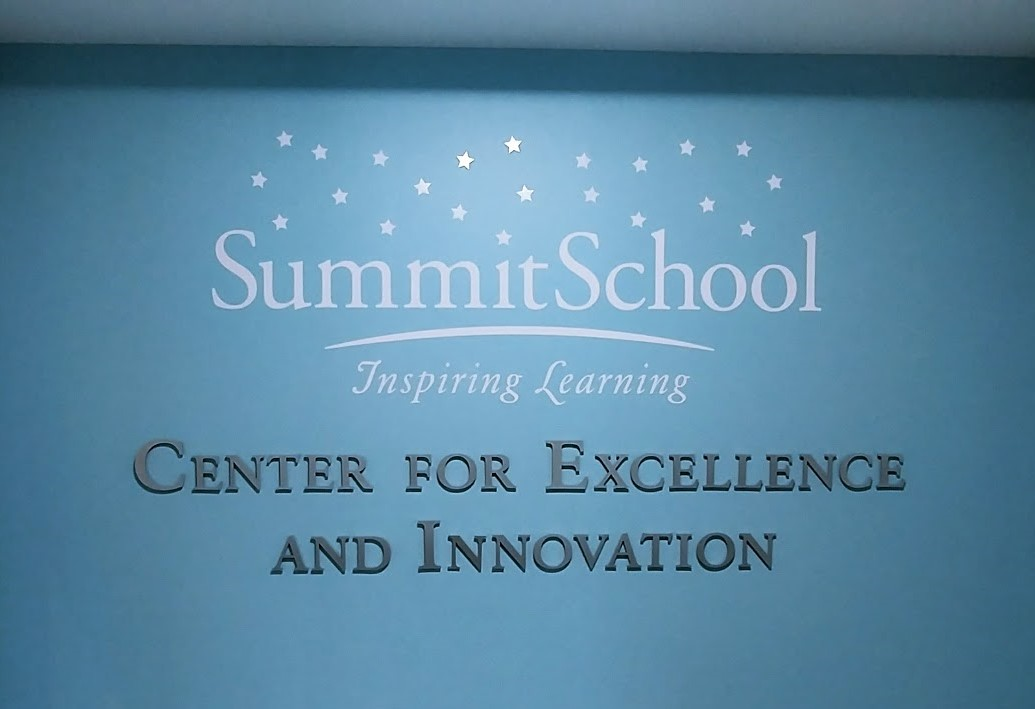 summit school inspiring learning wall display graphics