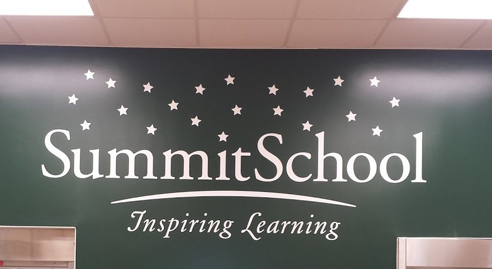 summit school kitchen green wall graphics vinyl