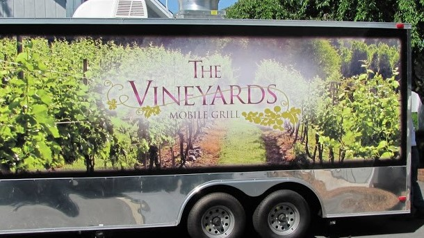 Vehicle Wrap for Mobile Kitchen at Westbend Vineyards and Brewhouse