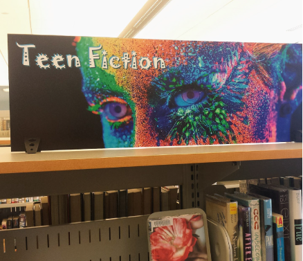 teen fiction signs displays