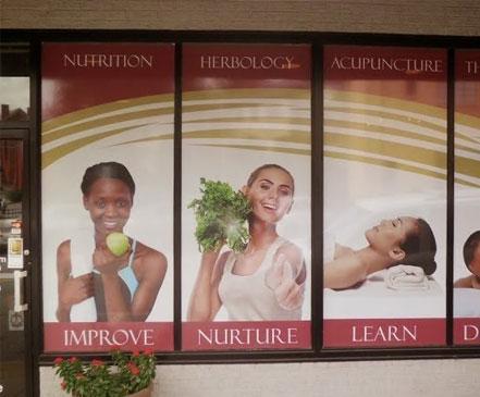 sixth sense health wellness benter winston salem window wra graphics display