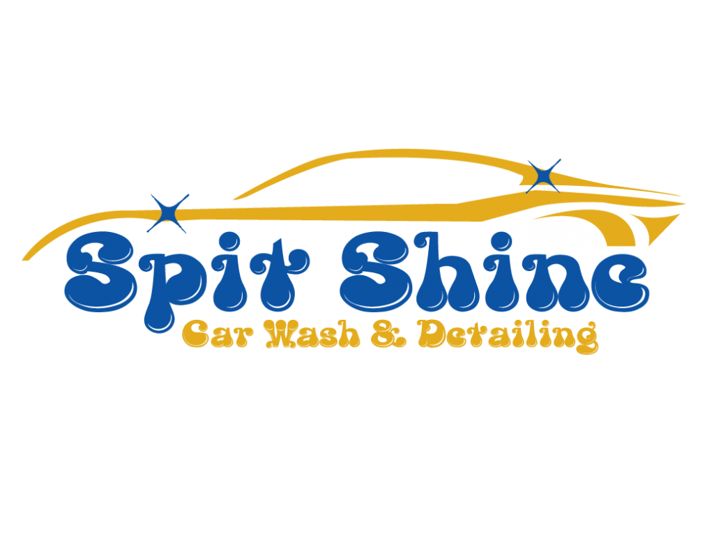 spit shine car wash detailing logo