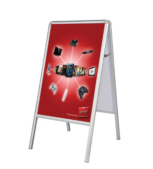 A Frame Double Sided Sidewalk Poster Sign with Vinyl Prints