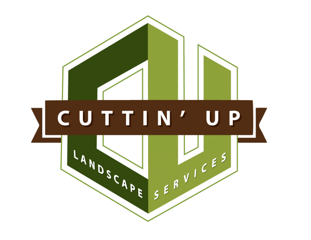 cuttin up landscaping services logo