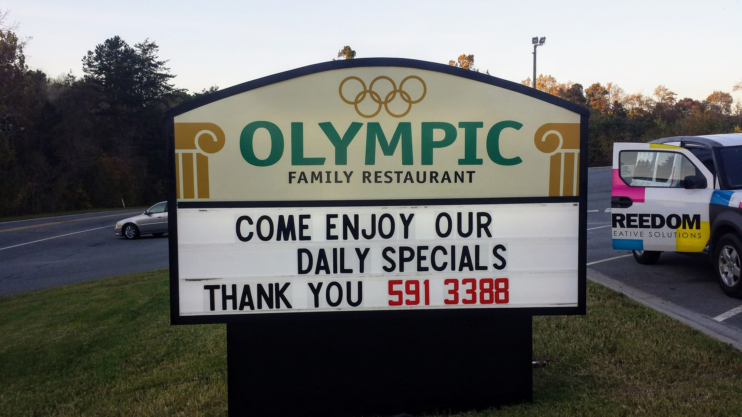 Olympic_restaurant_outdoor_message_board_sign
